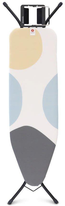 Brabantia - deska do prasowania rozmiar 124 x 38 cm, rama czarna 22mm - spring bubbles
