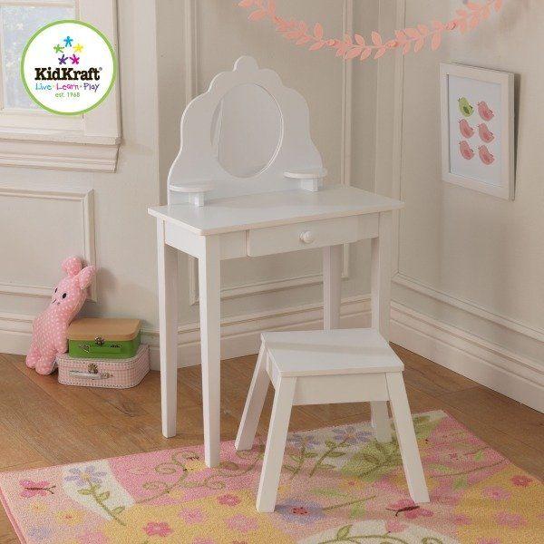 Biała toaletka dla dziewczynek, KidKraft - meble
