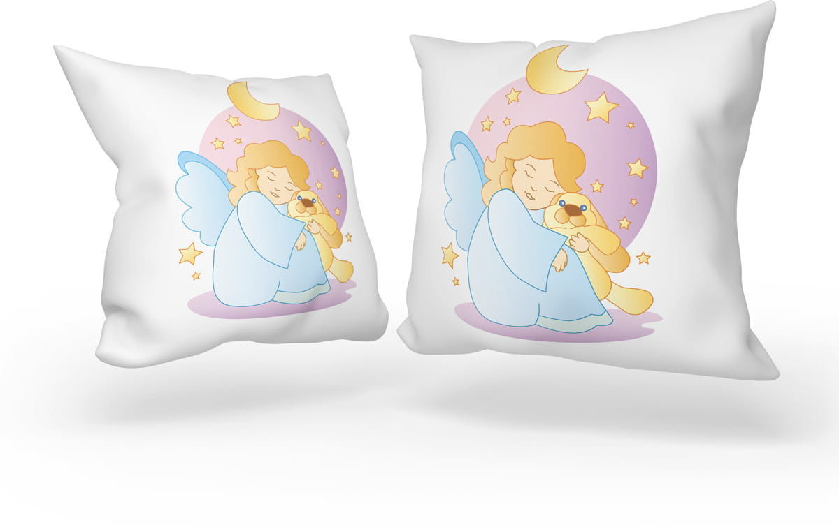 Poduszka dla dziecka, Aniołek z misiem