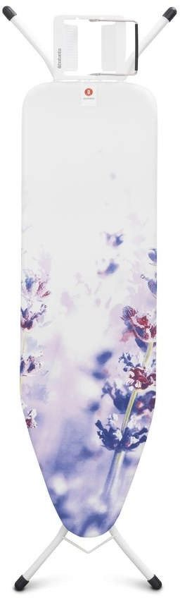 Brabantia - deska do prasowania rozmiar 124 x 38 cm, rama metaliczny szary 22mm - lavender