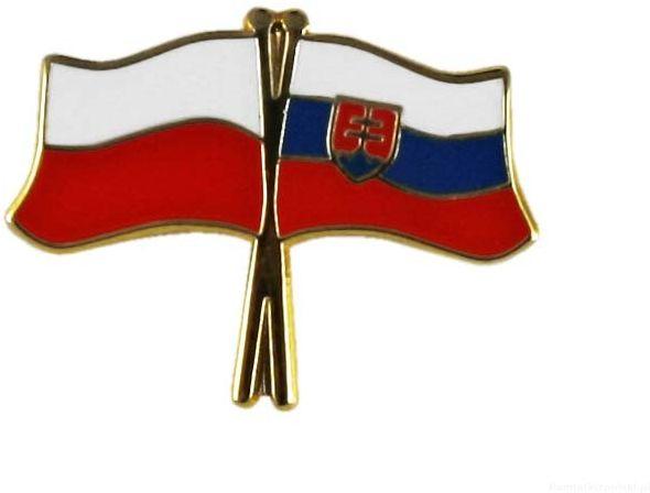 Flaga Polska - Słowacja, przypinka