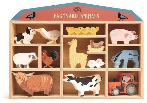 tender leaf toys - Drewniane Figurki do Zabawy - Zwierzęta na Farmie