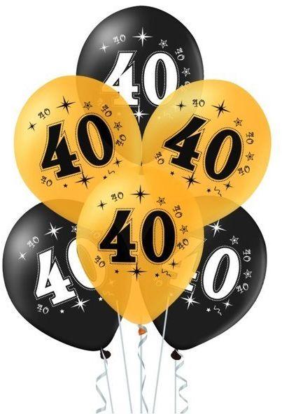 Balony na 40 urodziny 10 sztuk 400617
