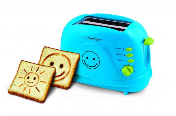 Toster Smiley niebieski