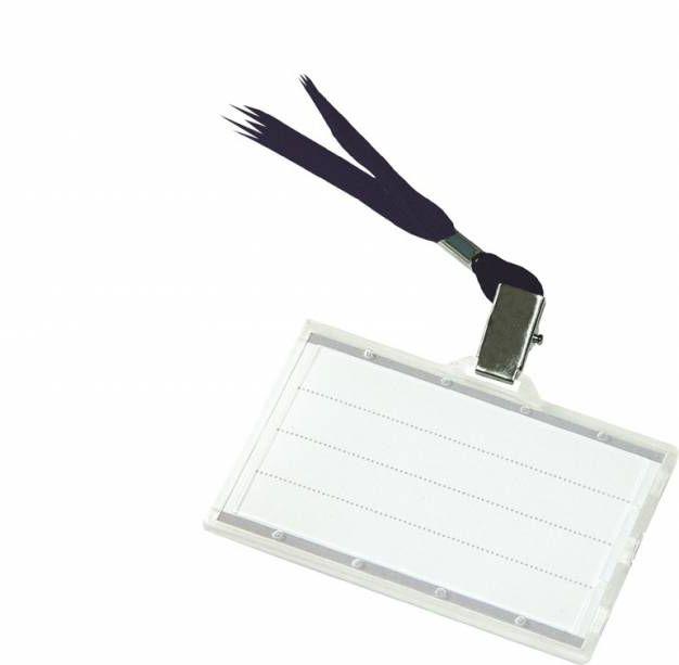 Identyfikator DONAU z czarną taśmą - X06781