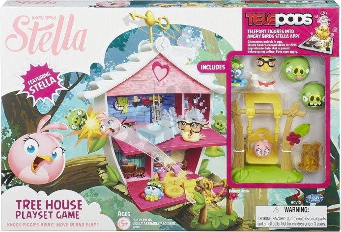 Hasbro Angry Birds Stella - Domek Stelli i przyjaciół z telepodem A8886