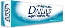 Jednodniowe soczewki kontaktowe firmy Ciba Vision Dailies Aqua Comfort Plus 10 sztuk