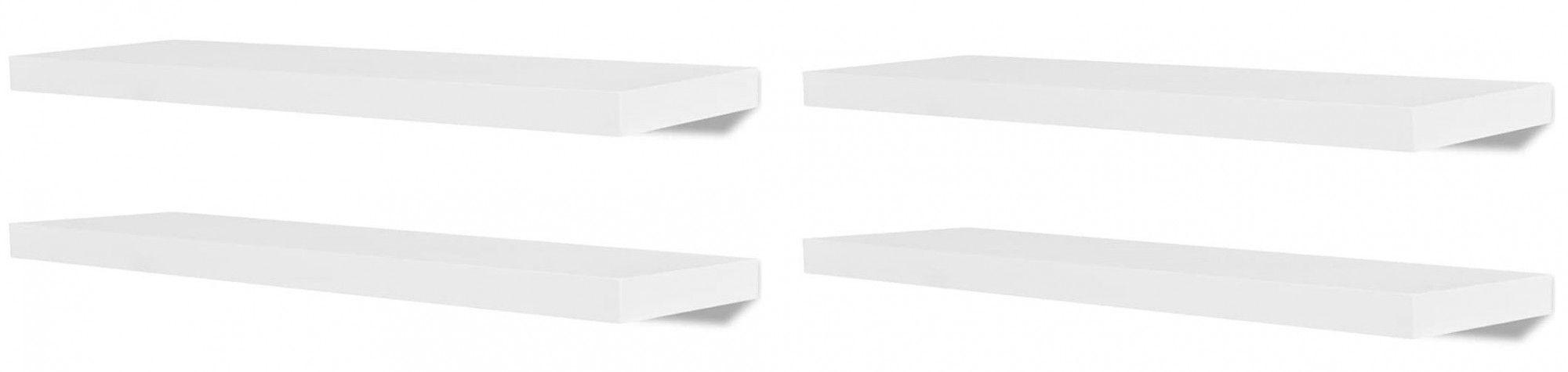 Zestaw nowoczesnych półek ściennych Nera 2X - biały
