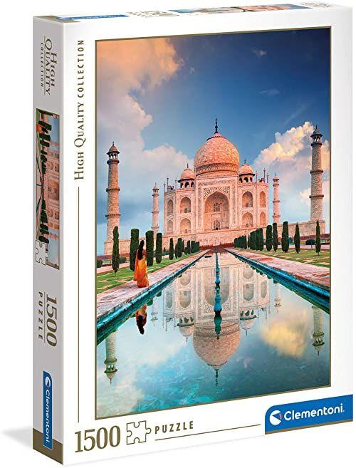 Clementoni 31818 Taj Mahal puzzle dla dzieci i dorosłych - 1500 sztuk, wiek 10 lat Plus, wielokolorowe