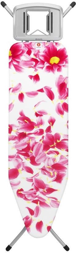 Brabantia - deska do prasowania rozmiar 124 x 38 cm, rama metaliczny szary 22mm - pink santini