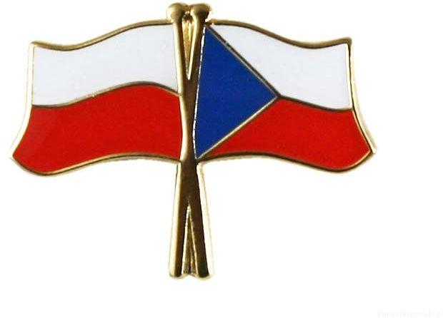 Flaga Polska - Czechy, przypinka