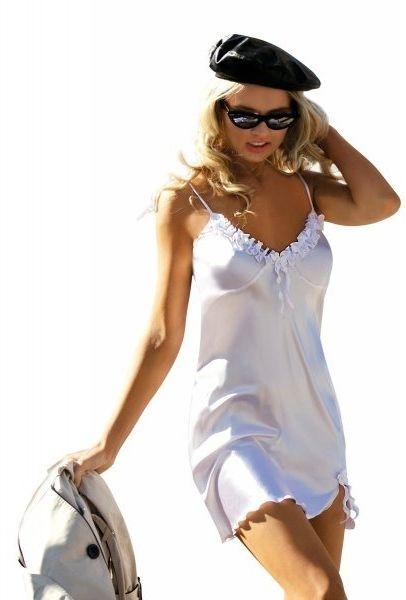 Koszula nocna damska dkaren gabi biała