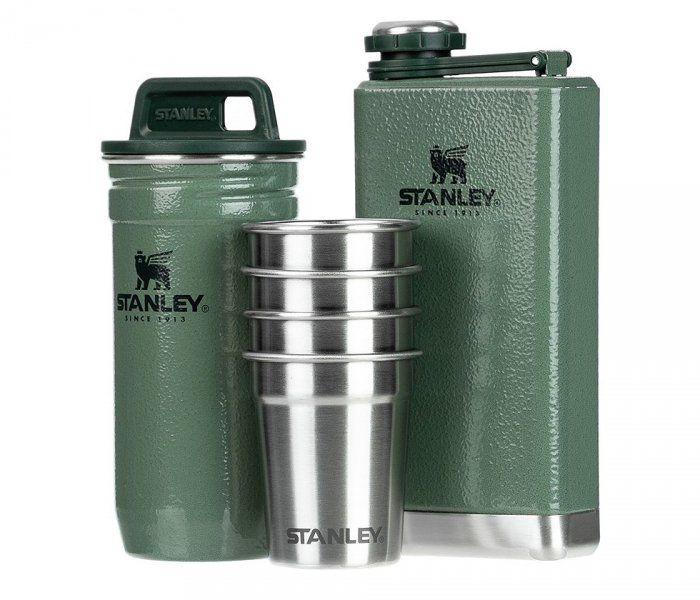 Zestaw STANLEY piersiówka Adventure Steel Shots + Flask Gift Set (zielony)
