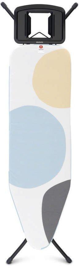 Brabantia - deska do prasowania rozmiar 124 x 38 cm, rama czarna 22mm - system perfectflow - spring bubbles