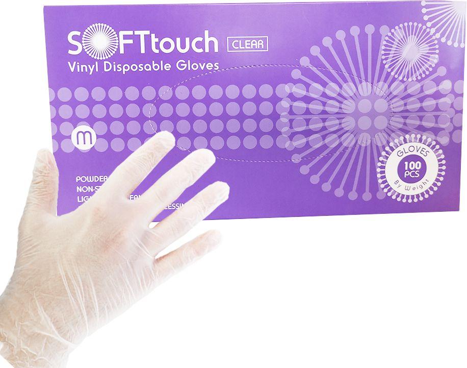 Rękawice winylowe bezpudrowe SOFTtouch