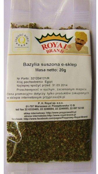 Bazylia suszona e-sklep 20 g.