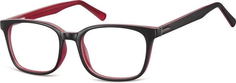 Czerwone Okulary oprawki optyczne korekcyjne Sunoptic CP151D