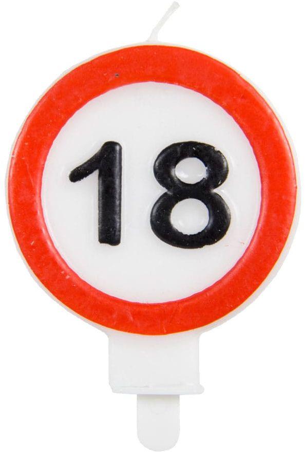 Świeczka na 18-tke znak zakazu - 1 szt.