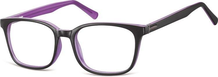 Fioletowe Okulary oprawki optyczne korekcyjne Sunoptic CP151E