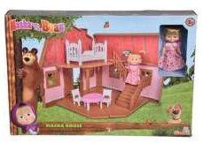 Zestaw Lalka 12 cm Masza i Niedźwiedź Dwupoziomowy dom Maszy (GXP-699785)