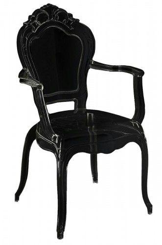Krzesło czarne King Arm