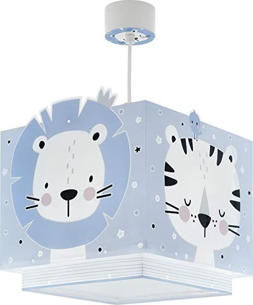 Dalber Lampa dziecięca lampa wisząca lampa wisząca Baby Jungle Jungla Azul