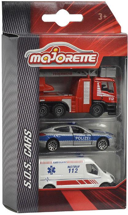 Majorette - Samochody Zestaw 3 autek ratunkowych 2057261