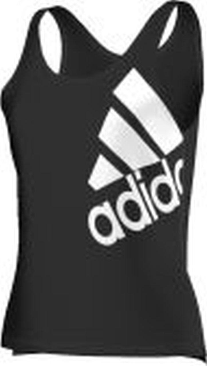 adidas Damska koszulka Tank Top Essentials Logo czarny czarno-biały XXL