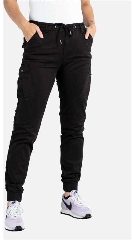 spodnie REELL - Reflex Women Rib Cargo Black (120) long