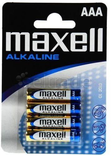Baterie alkaliczne Maxell Alkaline LR03 AAA 4 sztuki