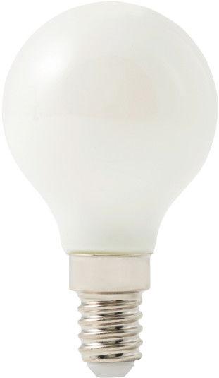 Żarówka LED Diall G45 E14 5,5 W 500 lm mleczna barwa neutralna DIM