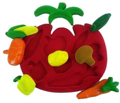 Rubbabu - Sorter Puzzle 3d Warzywa Sensoryczny