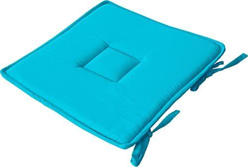 Enjoy Home 2007AUG040040  poduszka do siedzenia, bawełna, 40 x 40 cm, turkusowa, 40 x 40