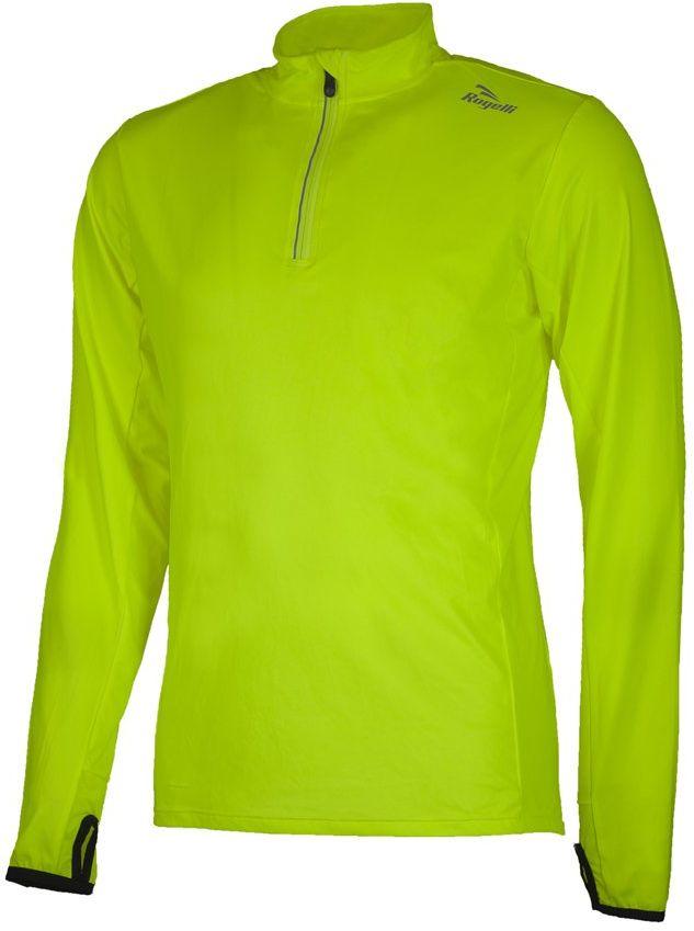 Rogelli Męska koszulka do biegania Campton 2.0, czarna/fluorescencyjna, S