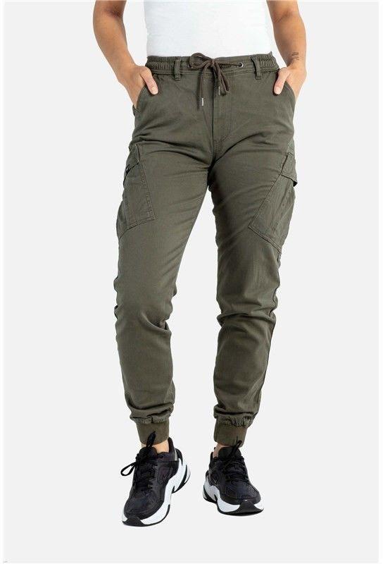 spodnie REELL - Reflex Women Rib Cargo Olive (160) long