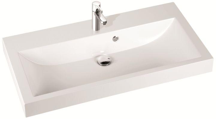Marmorin umywalka nablatowa Argo 100 cm bez otworu biała 290100022010 __DARMOWA DOSTAWA__