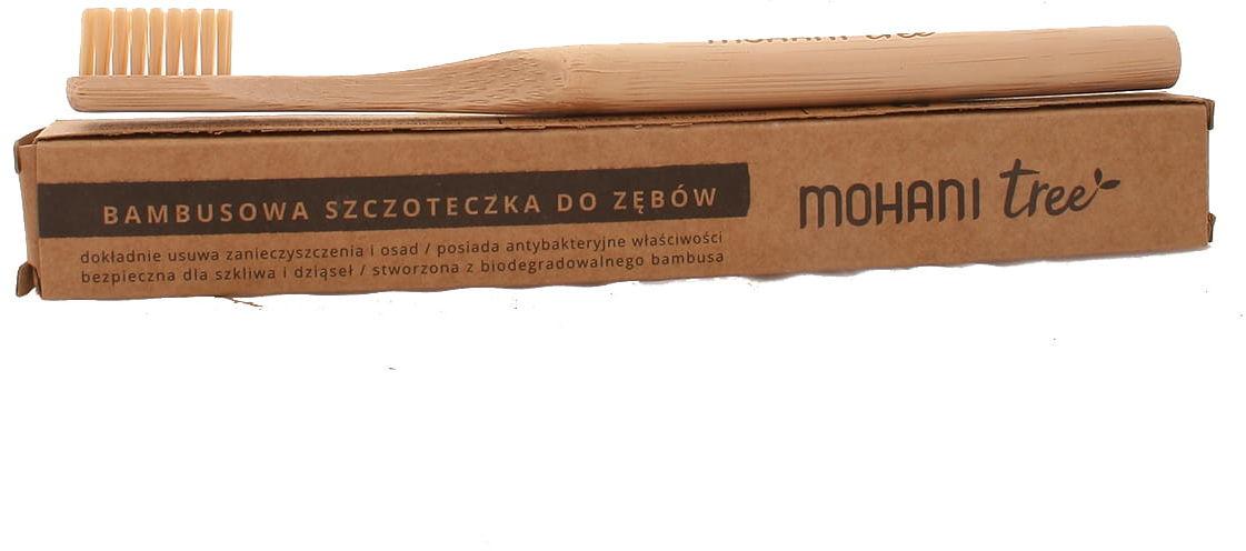 Szczoteczka bambusowa do zębów k. aturalny - Mohani
