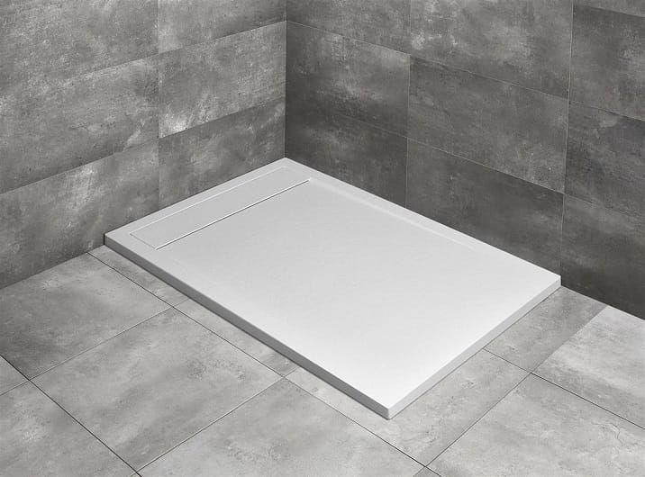 Radaway brodzik z konglomeratu Teos F biały 140x70 cm HTF14070-04