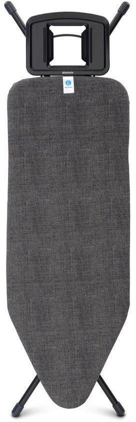 Brabantia - deska do prasowania rozmiar 124 x 45 cm, rama czarna 25 mm - denim black