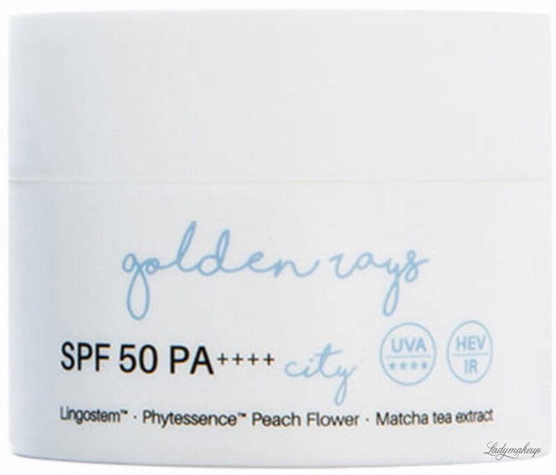 Nacomi - Golden Rays City - Miejski krem do twarzy z filtrem - SPF 50 PA++++ - 50 ml