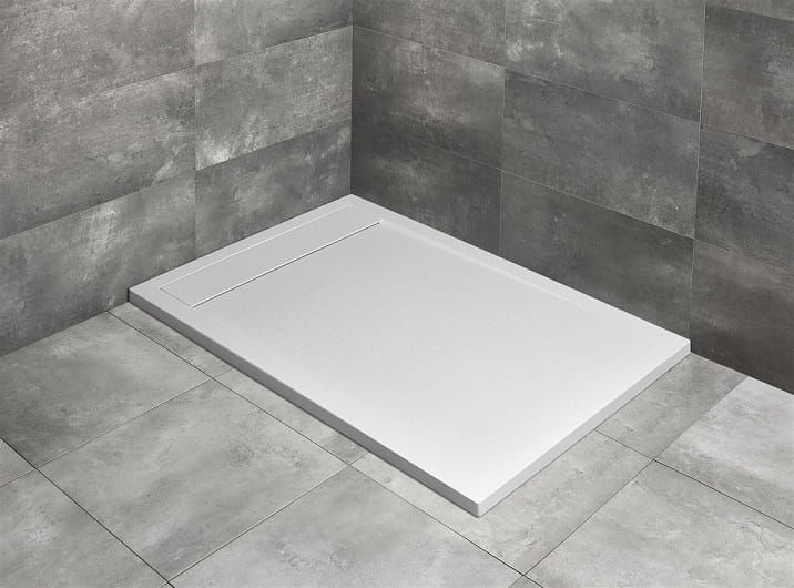 Radaway brodzik z konglomeratu Teos F biały 140x80 cm HTF14080-04
