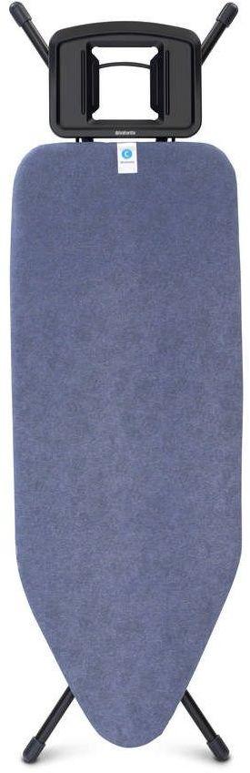 Brabantia - deska do prasowania rozmiar 124 x 45 cm, rama czarna 25 mm - denim blue