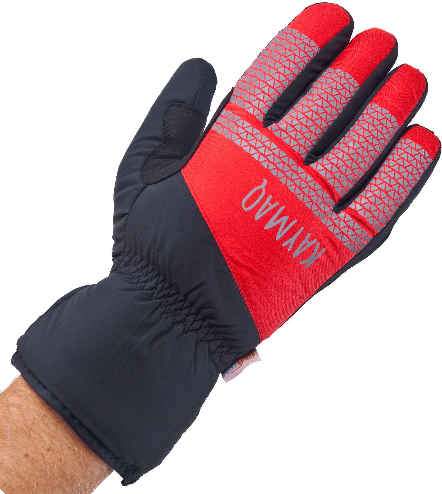 KAYMAQ GLW-002 zimowe rękawiczki rowerowe, czarny-czerwony Rozmiar: 2XL,KaymaqGLW-002blkred