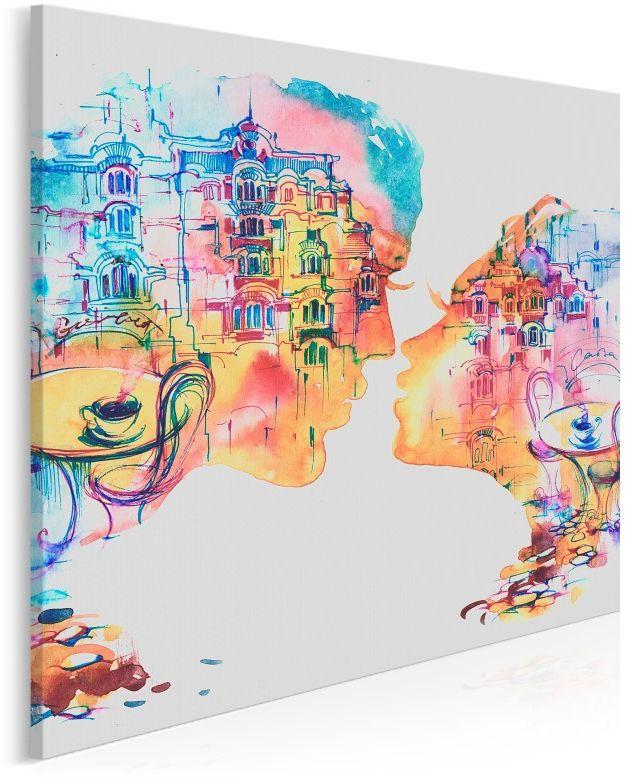 Romans w Barcelonie - nowoczesny obraz na płótnie - 80x80 cm
