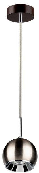 Lampa wisząca BALL WOOD drewno bukowe kolor orzech klosz satyna, 5141176