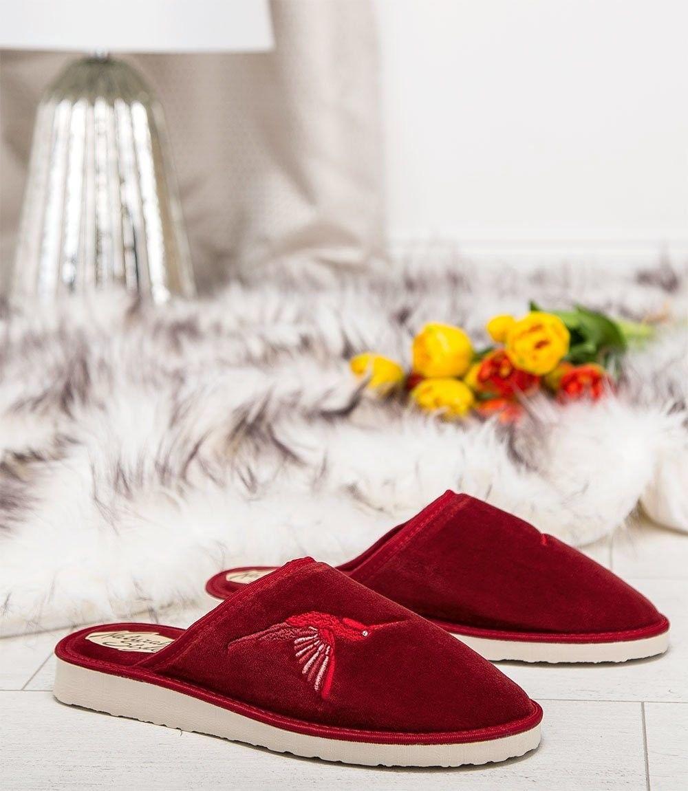 Kapcie damskie Natural Style NS-038 Czerwone