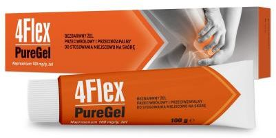 4 Flex Pure Gel 100mg/g na ból i stan zapalny mięśni i stawów żel 100 g