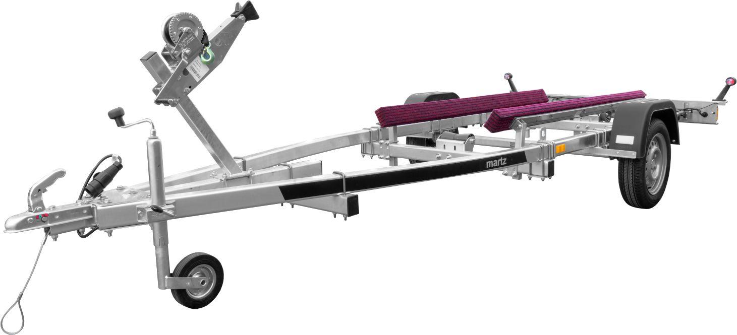 Przyczepa pod łódź lub skuter wodny MARTZ JET ALU CPH 750 kg