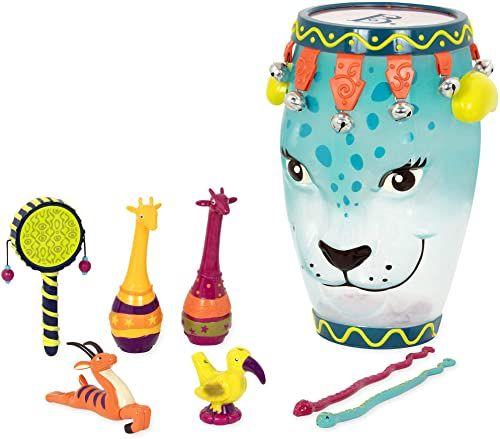 B. Toys - B. dżungla dżam - edukacyjne i muzyczne perkusja dla dzieci i dzieci zestaw 9 szt. - z tamburynem, marakami, gwizdkiem slajdowym i więcej