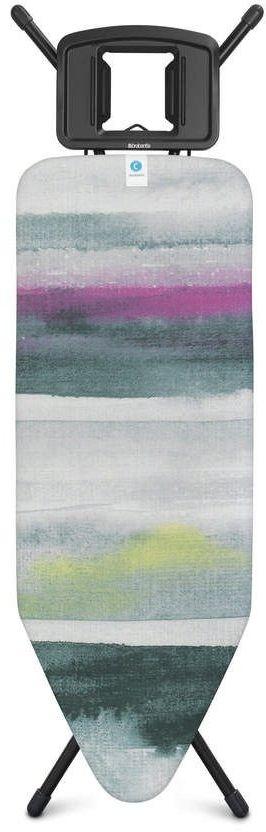 Brabantia - deska do prasowania rozmiar 124 x 45 cm, rama czarna 25 mm - morning breeze